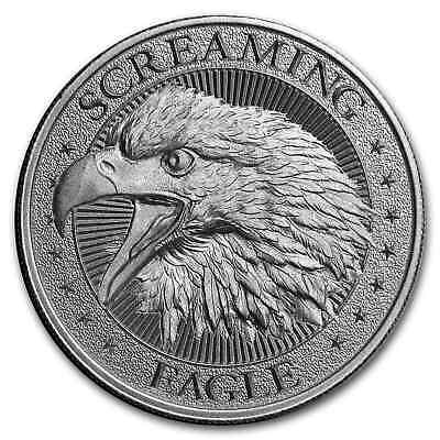 2 oz Silver High Relief Round - Screaming American Eagle - SKU#177666