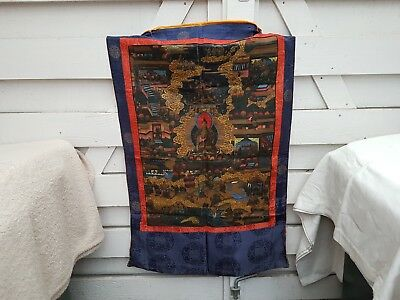 Antique Hand Painted Tibetan Wall Hanging