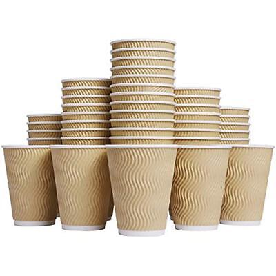 Cups WL001 Coffee Hot 12 Oz Disposable Insulated Corrugated Sleeve Ripple Wall