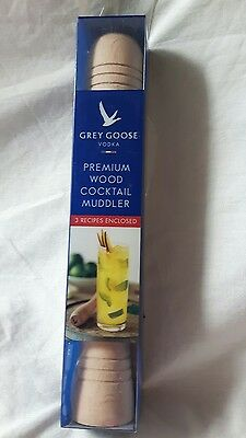 NEW Grey Goose vodka collectable wood Muddler 20cm