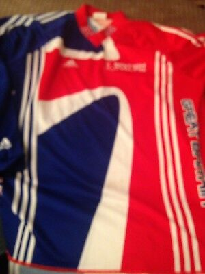 Vintage Adidas Great Britain Cycling Top Jersey GB