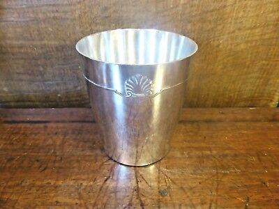 ANTIQUE EXCELLENT CHRISTOFLE silver plated CUP/BEAKER - 7cms height