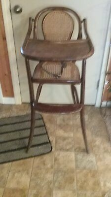 Vintage / Antique- Bentwood  High Chair With Cane Seat