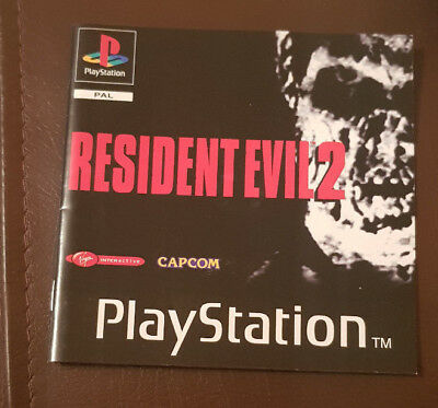 Resident Evil 2 II PS1 Playstation 1 PS One Instruction Manual Only