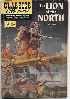 Classics Illustrated #155 HRN 154 The lion of The North Henty 1967 Gilberton VG-