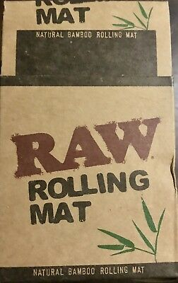 RAW Bamboo Rolling Mat - 1 ROLL - Portable Natural Gummed Hand Tray Paper Fast