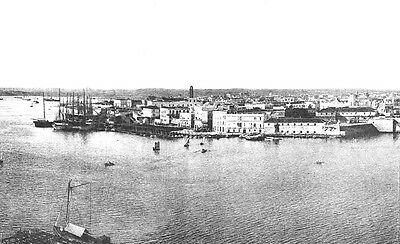 HAVANA, CUBA - Huge Panoramic View of the City & Harbor  MADE IN 1899 (original)