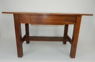 RARE Antique Mission Limbert's signed one drawer desk/ library table. 48 inches