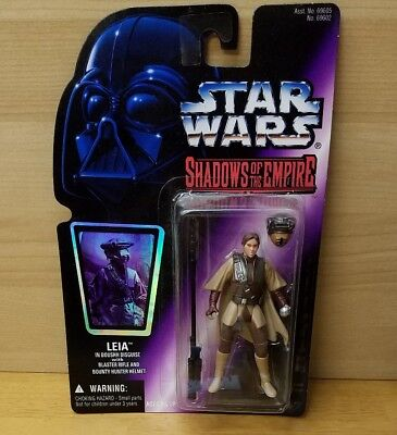 New 1996 Kenner Star Wars: Shadows of the Empire Leia Boushh Disguise Holo Card