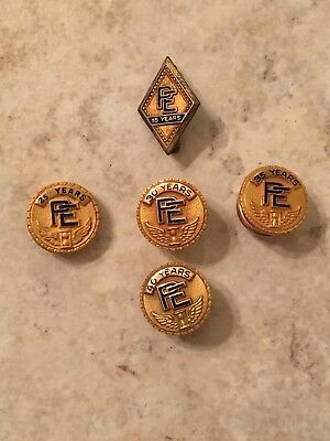 Lot of 5 Vintage Gold Pins for Potomac Edison Service