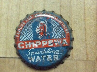 Chippewa  Water   Soda Bottle   Cap -  Cork  Lined  - used