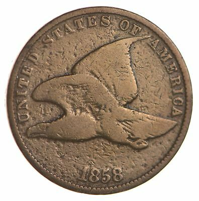 1858 Flying Eagle Cent - Very Tough - Issued for only 3 Years *888