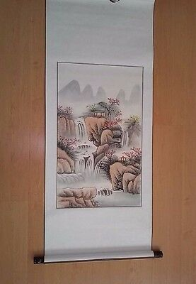 Chinese Scroll Painting  Landscape USA SELLER read description