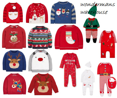 Christmas Festive Jumpers/Sweatshirts/Baby Grow Clothes - Brand New & Tagged
