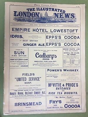 Antique Oct.12,1902 Illustrated London News New York Edition Ads King Queen Etc.