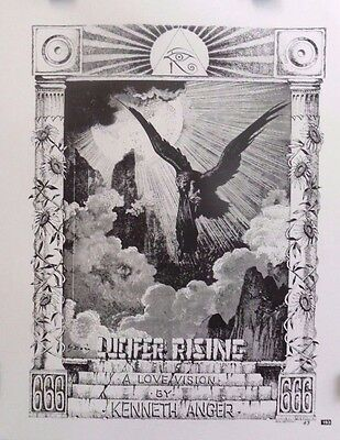 """Rick Griffin """"Lucifer Rising""""   Oracle Facsimile Orig 1992 Art Print   2-Sided"""