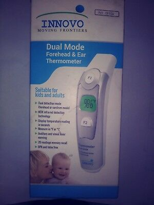 Innovo Dual Mode Forehead And Ear Thermometer INV-EF100 *NIB* **US SELLER**