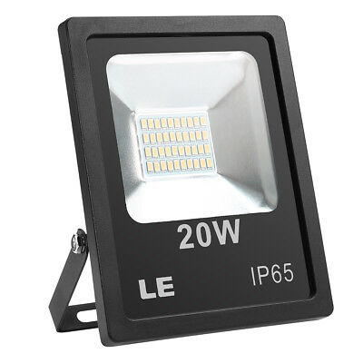 W-LITE 20W Super Bright LED Floodlight Outdoor, 800Lm, 100W Halogen Bulb Equival