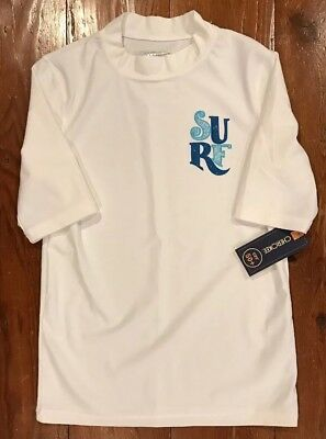 Cherokee Boys Large 12/14 UPF 50+ Protection Swim Shirt NWT White Surf