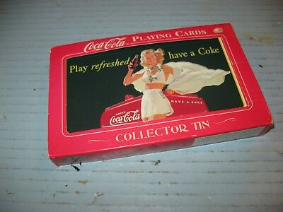 """""""The Coca-Cola Girl"""" Playing Cards In Collector Tin"""