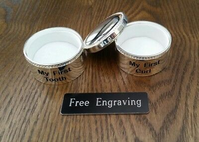 FREE ENGRAVING (PERSONALIZED) Baby Tooth / Curl Set (Things Remembered)