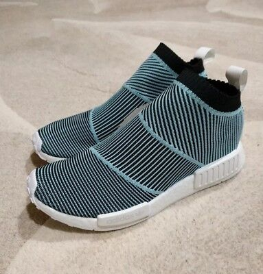 0a660524148e4 Adidas Men s NMD CS1 PARLEY PRIMEKNIT Shoes Core Black Blue Spirit AC8597  sz10