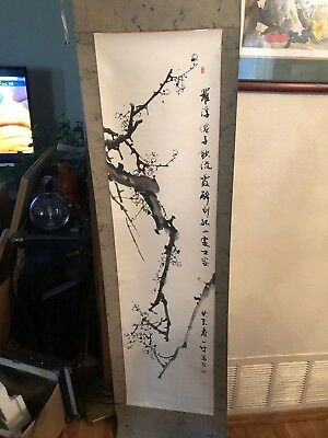 Vintage/Antique Chinese Hand Painted Hanging Scroll