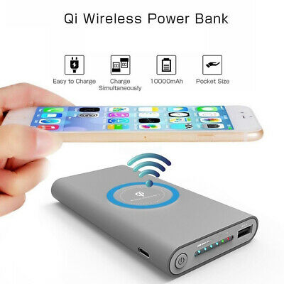 DIY 500000mAh Power Bank 2 in 1 Wireless Charger Case Portable No Battery