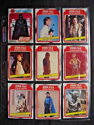 Topps *star Wars The Empire Strikes Back Ser.1* Complete Card/sticker Set 132/33