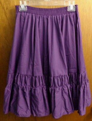 Malco Modes Purple Square Dance Ruffled Skirt Womens S USA