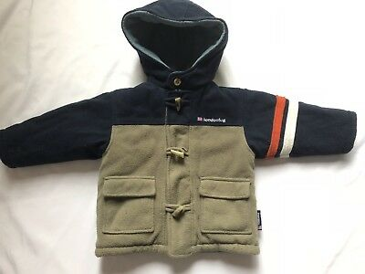 London Fog Sz 2T REVERSIBLE Coat Toggles Zip Hooded Insulated Winter Parka Boys