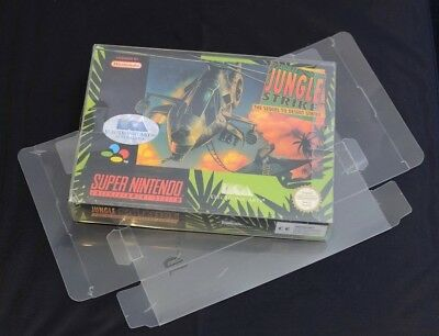 Super Nintendo GAME BOX PROTECTORS For Super Nintendo SNES / N64 x 100pcs