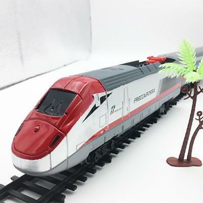 Electric Train Toy Railway Track Simulation Railcar with Sound for Kids Gift