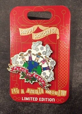 Disney It's a Small World Happy Holidays Pin 2018 LE