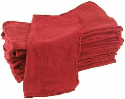 500 industrial shop rags / cleaning towels red