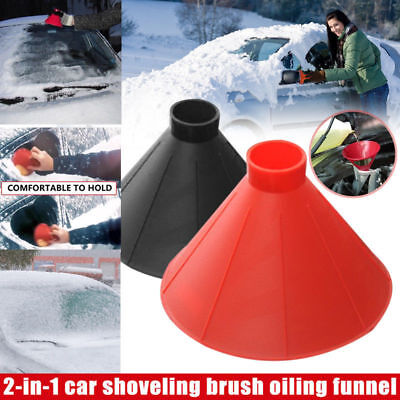 Car Windshield Ice Scraper Cone Shaped Outdoor Round Funnel Remover Snow Tool