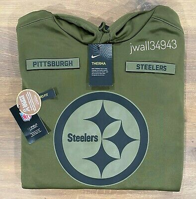 Nike PITTSBURGH STEELERS 2018 Mens NFL Salute to Service STS Therma Fit Hoodie