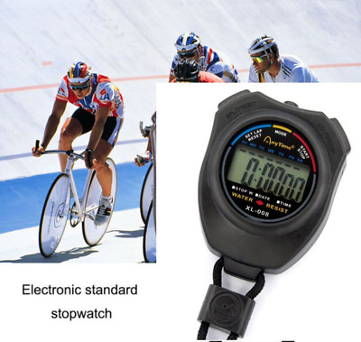 Digital Handheld Sports Stopwatch Stop Watch Timer Alarm Counter Chronograph UK