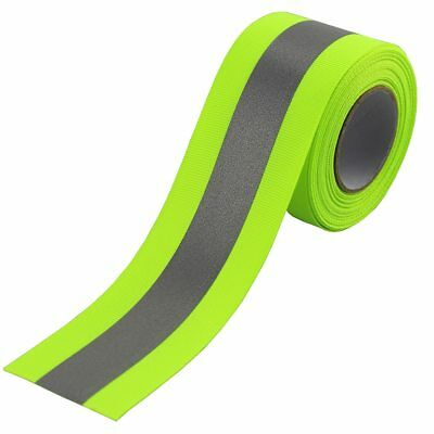 Sew On Silver Reflective Webbing Ribbon Fabric Tape For Clothing Green 10meter
