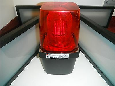 Federal Signal 400St Red Industrial Strobe Light Ok4 Vibratone Alarm Bright