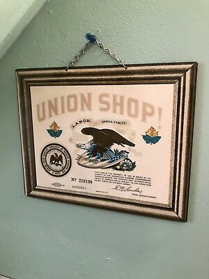 Vintage Barber Union Shop Sign