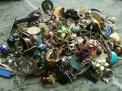 Job Lot Of Odd Vintage Earrings For Spare Repair