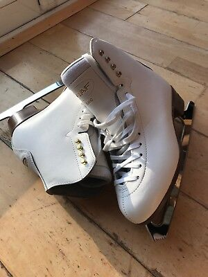 Pre-owned Graf 500 Ice Skating boots Size 39 White With Original Box