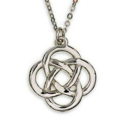 CELTIC KNOT PENDANT LADIES NECKLACE Made in Scotland from ART PEWTER