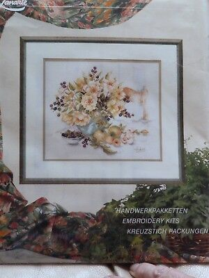 "Lanarte Counted Cross Stitch Kit 34190 Yellow Roses 14.5"" x 12.5"""