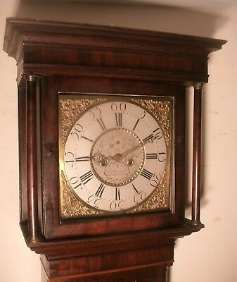 "Antique  Oak Brass  Dial, "" Weverham ""   8 Day Longcase / Grandfather Clock"