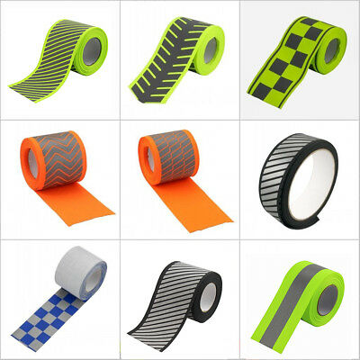 Silver Reflective Webbing Ribbon Fabric Tape For Clothing Sew On 5meter