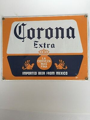 """Corona Extra Porcelain Beer Sign- New in Plastic wrap- 8"""" x 10.5"""""""