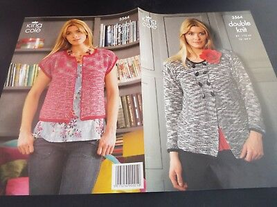 King Cole Ladies Womens Cardigans Knitting Pattern 3564 Double Knitting
