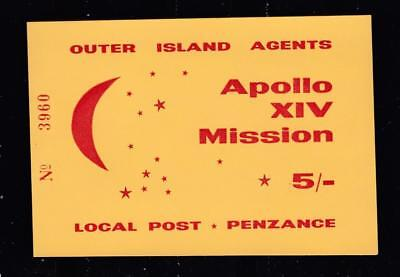 Outer Island Agents Min sheet Apollo XlV Mission 5s Local Post Penzance Sheet No